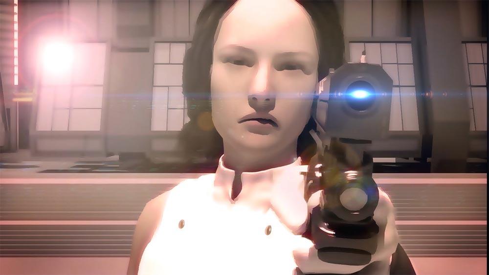 Adventures of a Space Bum trailer frame protagonist holding gun